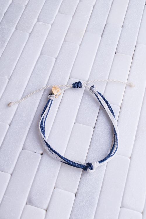 Navy, Teal & White Carlos Bracelet