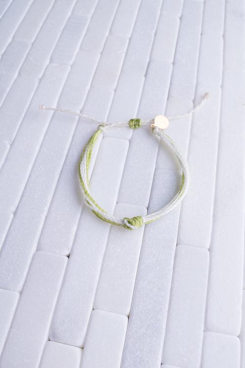 Green & White Women's Carlos Bracelet