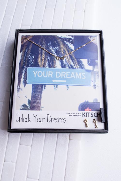 Unlock Your Dreams Necklace & Earring Set