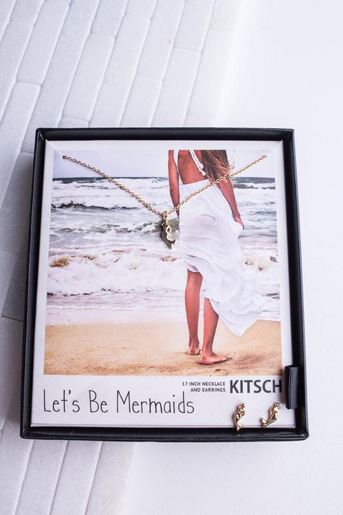 Mermaid Necklace & Earring Set