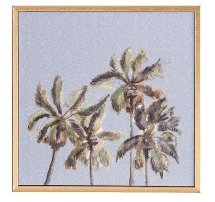 Mini Canvas Palm Tree Art