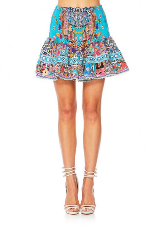 Short Shirred Skirt