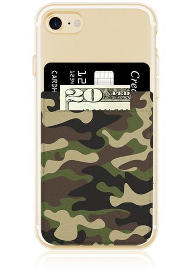 Camo Faux Leather Phone Pocket