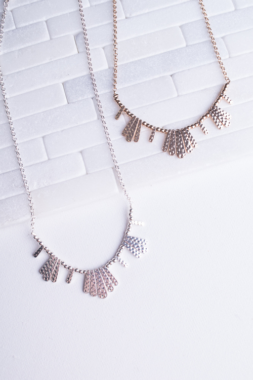 Mini Hammered Burst Necklace