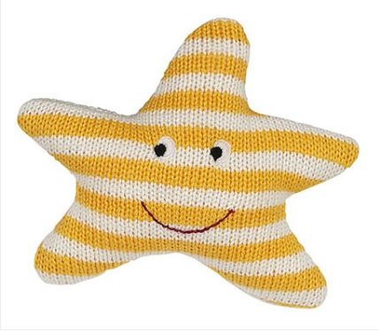 Starfish Knit Rattle