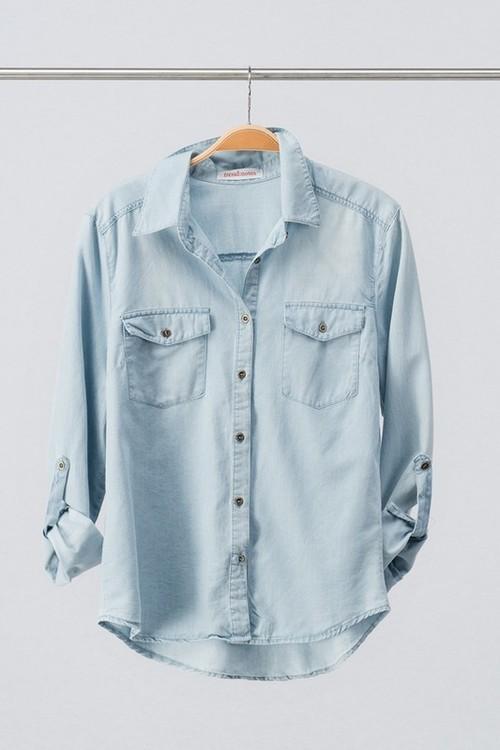 Button Down Denim shirt With Pocket