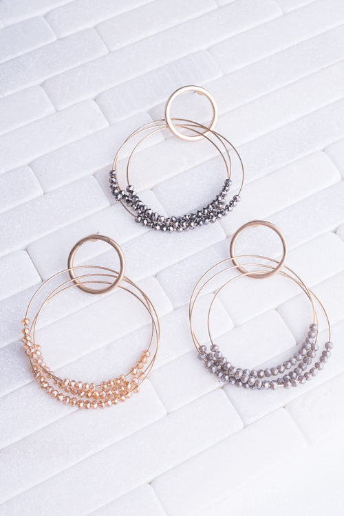 Beaded Hoop Dangle