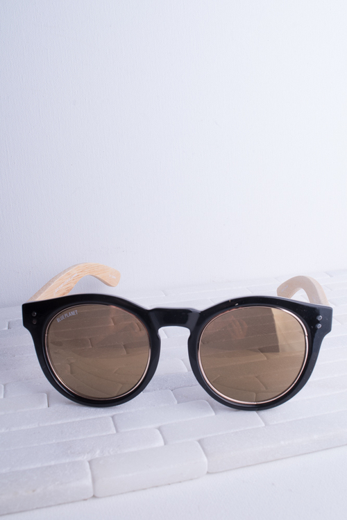 Golden Black/Gold Amber Lens Sunglass