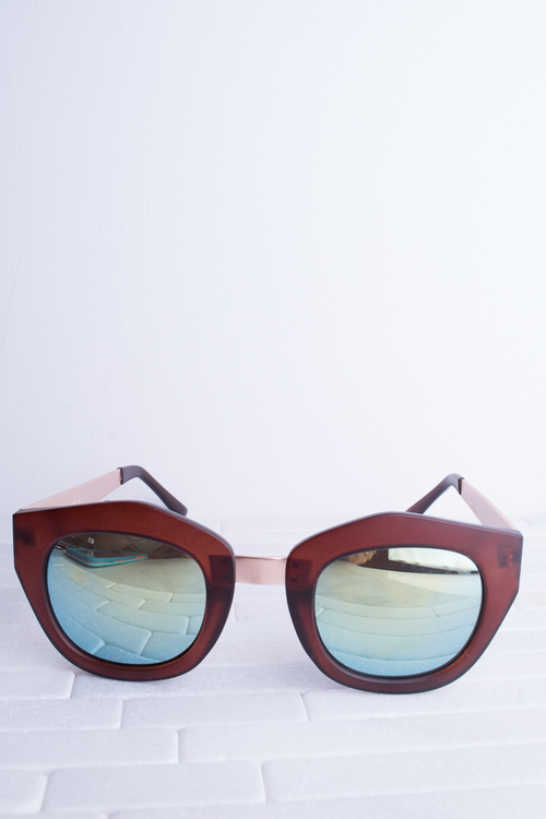 Vixen Matte Brown Sunnies