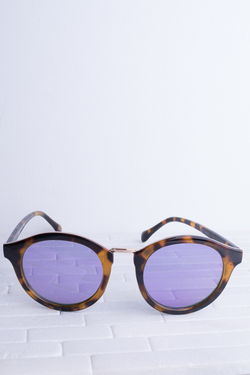 Jelly Yellow Tort/ Purple Lens Sunglass