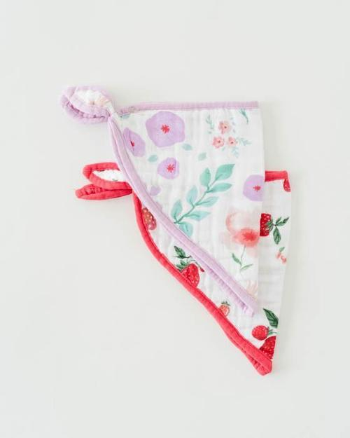 Cotton Muslin Bandana Bib Set- Morning Glory