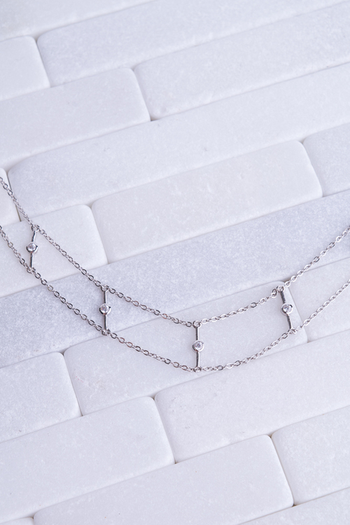 CZ Wide Choker - Sterling