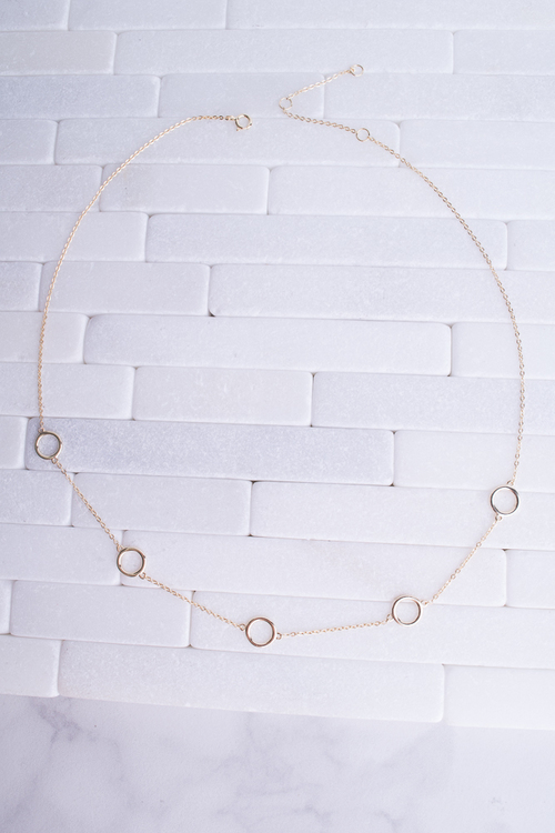 Hollow Multi Circle Necklace