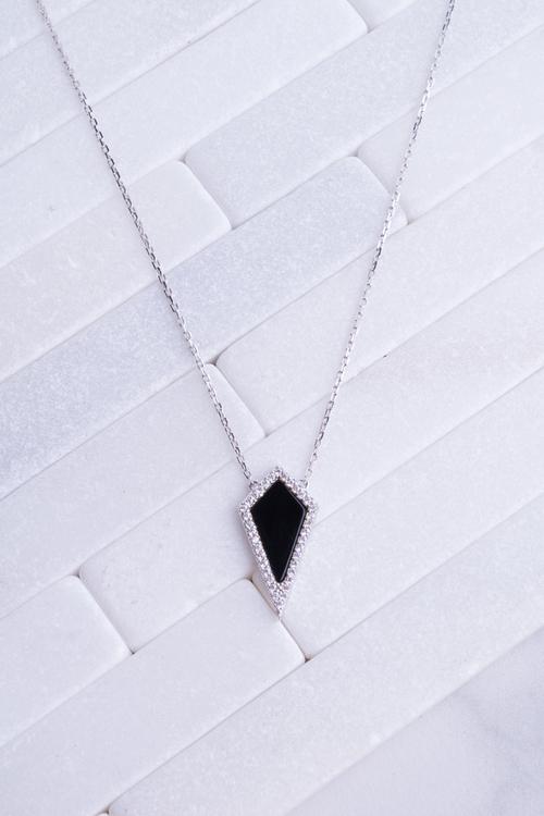 Diamond Shape Halo Necklace