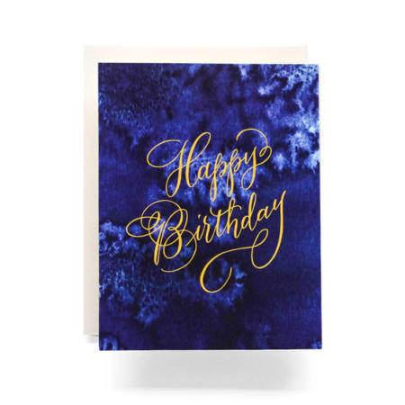Indigo Birthday Greeting Card