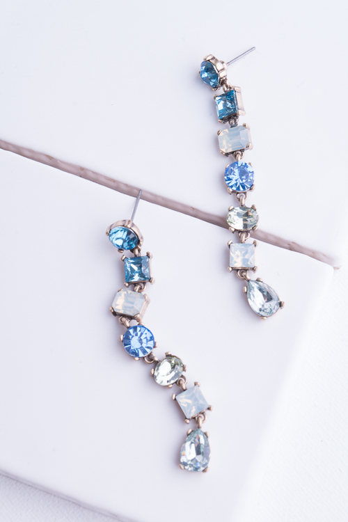Slender Blue Gems Dangle