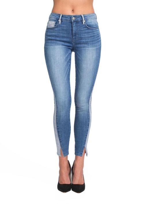 Kora Sliced Mid Rise Skinny Jean