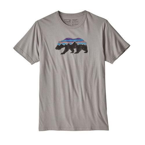 Patagonia M Fitz Roy Bear Organic T-Shirt Feather Grey