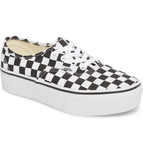 Vans Authentic Platform Checkerboard