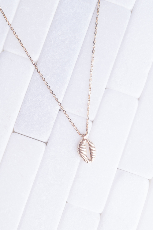 Puka Shell Simple Gold Necklace