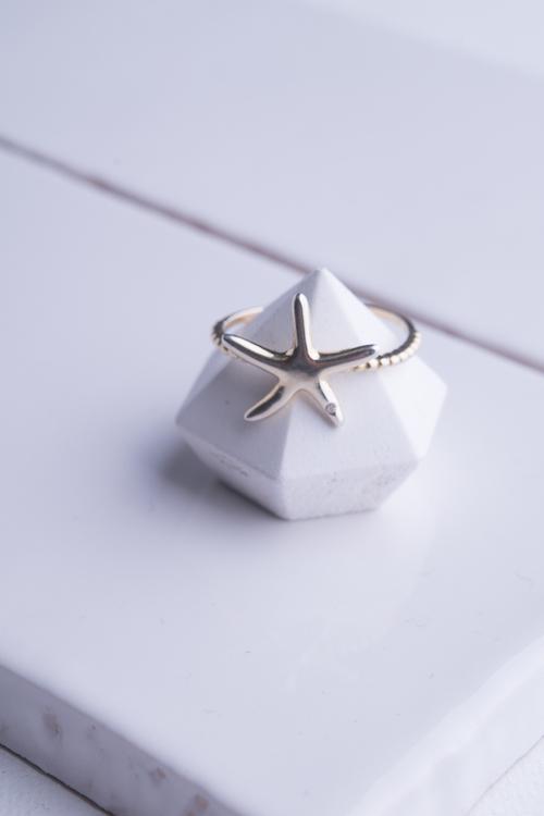 Starfish Rope Band Ring
