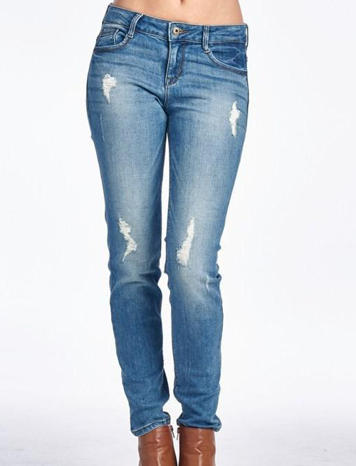 Relaxed Sexy Distressed Boyfriend  Jean