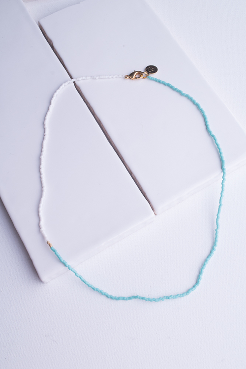 Teal Asymmetrical Necklace