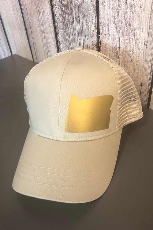 Hank Orange Cream Hat w/ Gold Matte