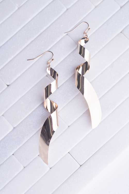 Gold Ribbon Dangle