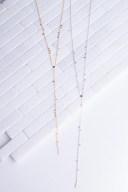 Mini Drop Lariat Necklace