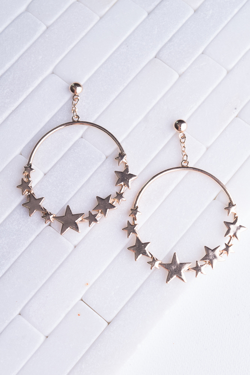 Star Hoop Dangle
