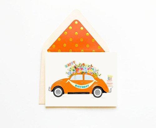 Happy Birthday Orange Bug Card