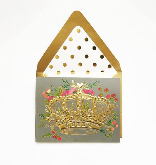 Foil Queen Gold Card