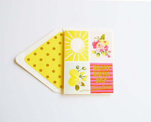 Foil Happy Birthday Sunshine Card