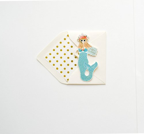 Die Cut Mermaid Card