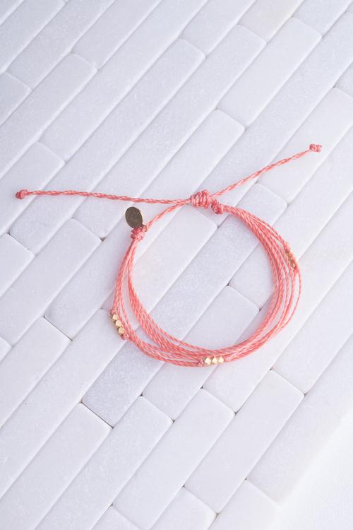 Coral Macua Gold Bracelet