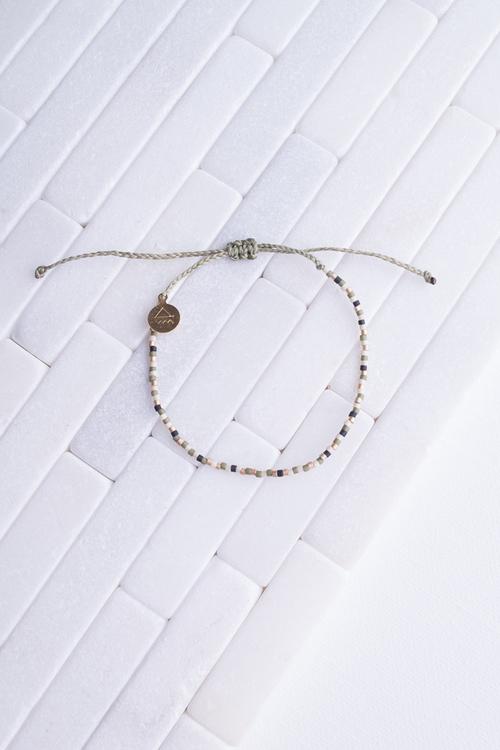 Olive & Black Random Pattern Bracelet