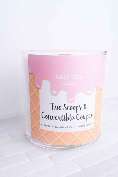 Two Scoops & Convertible Coupes Candle