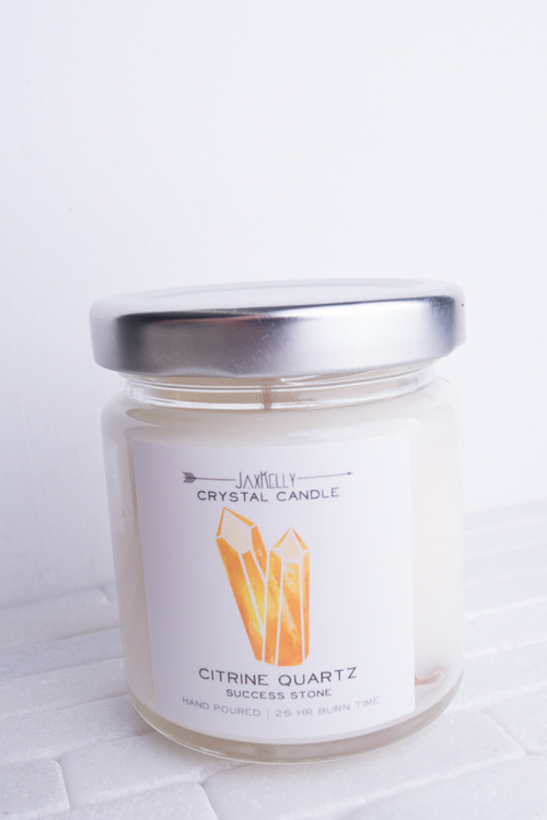 Crystal Candle Citrine Quartz- 4oz
