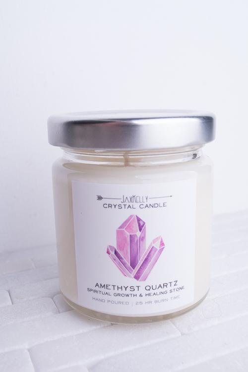 Crystal Candle Amethyst- 4oz