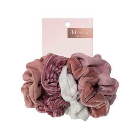 Velvet Scrunchies- Blush/Mauve