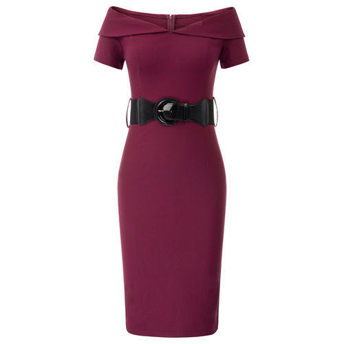 Cynthia dress in Black or Berry