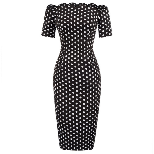 Kitt wiggle dress (black or white)