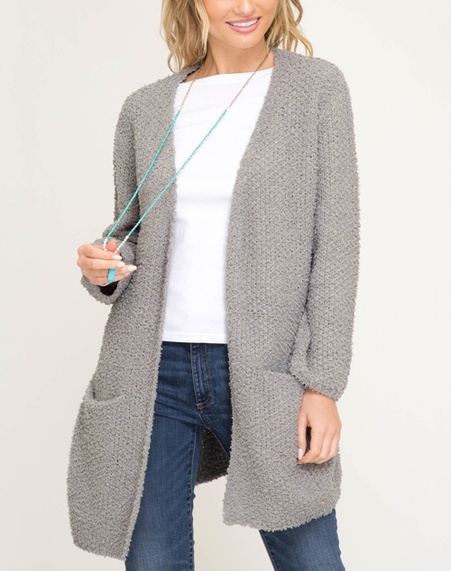 Soft Sweater Pocket Cardigan
