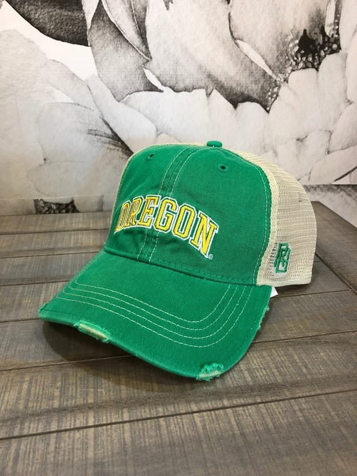 Oregon Duck Hat Distressed