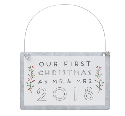 Mr & Mrs 2018 Ornament
