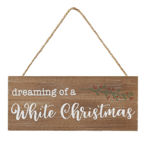 White Christmas Vintage Ornamnet