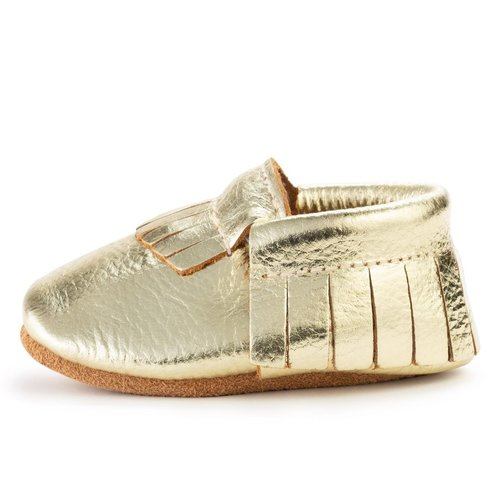 Gold Genuine Leather Moccasin