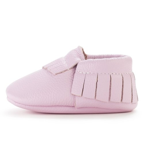 Lavender Genuine Leather Baby Moccasin