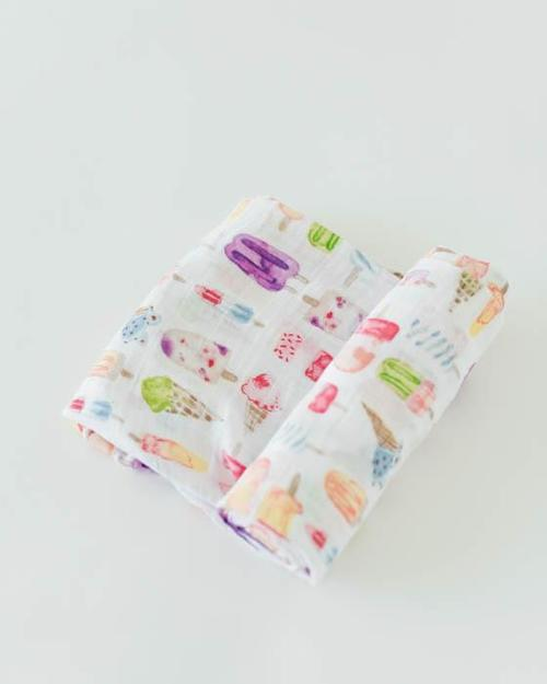 Brain Freeze Muslin Swaddle Blanket